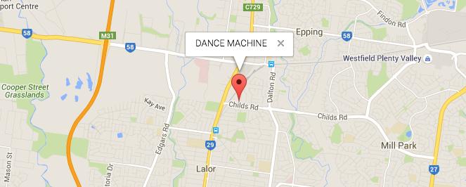 Dance Machine VIC Location