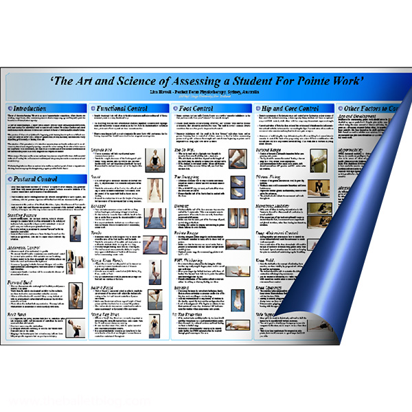 The Poster - The Art & Science of Assessing a Student for Pointe Work