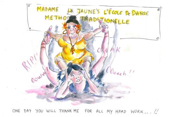 Overstretching splits lisa howell mike cartoon ballet blog