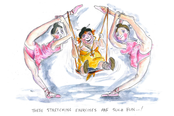 Such fun stretching exercises cartoon . mike howell lisa ballet blog
