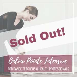 Online Pointe Intensive- Product Image- SOLD OUT